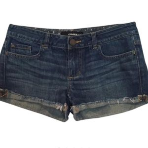 O'NEILL Blue-Jean Fringed Cutoff Denim Shorts
